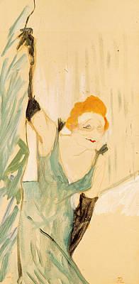 Photograph - Yvette Guilbert 1867-1944 Taking A Curtain Call, 1894 Gouache On Paper by Henri de Toulouse-Lautrec