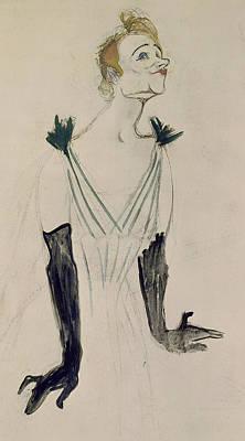 Toulouse-lautrec Drawing - Yvette Guilbert  by Henri de Toulouse-Lautrec