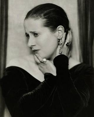 1920s Fashion Photograph - Yvonne George Wearing Rings by Nickolas Muray