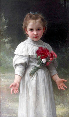 Digital Art - Yvonne by William Bouguereau