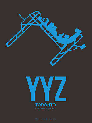 Digital Art - Yyz Toronto Airport Poster 2 by Naxart Studio