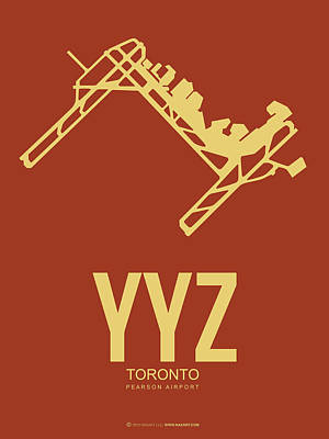 Digital Art - Yyz Toronto Airport Poster 3 by Naxart Studio
