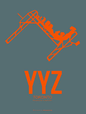 Digital Art - Yyz Toronto Airport Poster by Naxart Studio