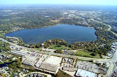 Photograph - Z-002 Zurich Lake Fall Lake Co. Illinois by Bill Lang