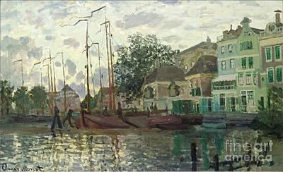 Zaandam The Dike Evening 1871 Art Print by Claude Monet