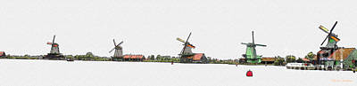 Digital Art - Zaanse Schans by Arie Van Garderen