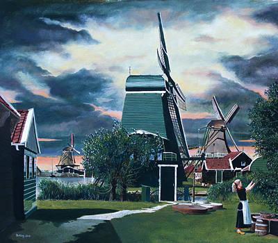 Zaanse Schans Art Print by Jo King