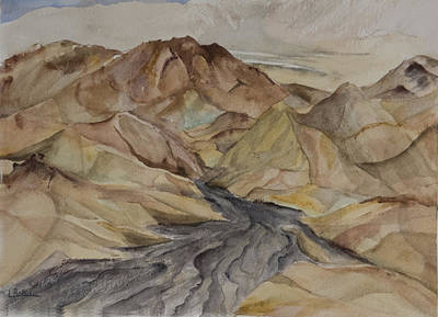 Painting - Zabriski Lookout by Lynne Bolwell