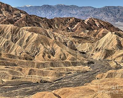 Photograph - Zabriskie Point Badlands by Adam Jewell
