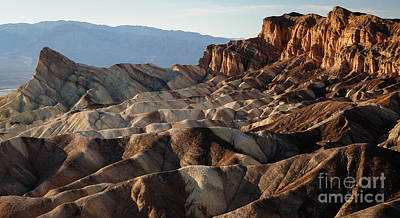Amargosa Photograph - Zabriskie Point by Charles Dobbs