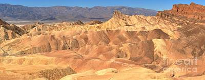 Photograph - Zabriskie Point Medium Panorama by Adam Jewell