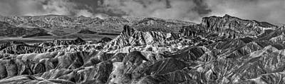 Photograph - Zabriskie Point Pano by Wes and Dotty Weber