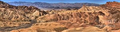 Photograph - Zabriskie Point Panorama 2 by Adam Jewell