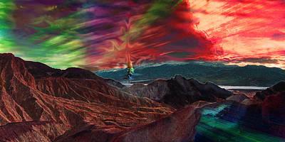 Death Valley Mixed Media - Zabriskie Point Than Some by Sinisha Glisic