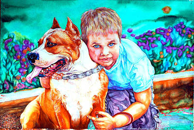 Painting - Zac And Zuzu by Xavier Francois