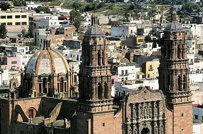1730 Photograph - Zacatecas Cathedral. 1730-1760. Mexico by Everett