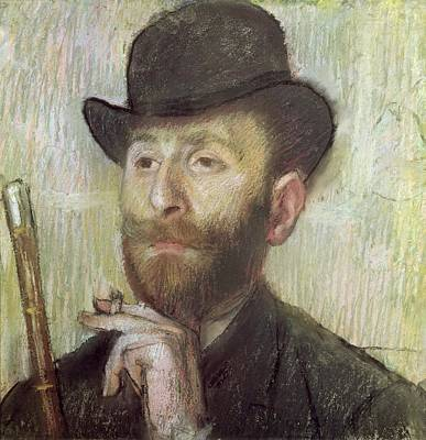 Bowler Painting - Zachary Zakarian by Edgar Degas