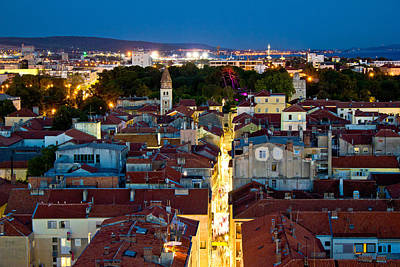 Photograph - Zadar Peninsula Calle Larga Panorama In Evening by Brch Photography