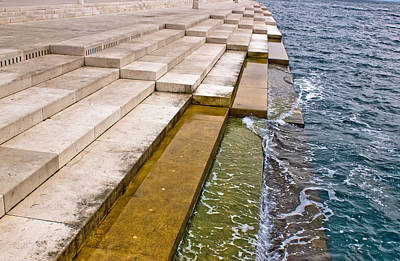 Photograph - Zadar Sea Organs Powered By The Sea Stream by Brch Photography