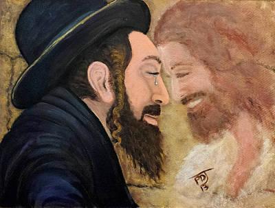 Ezekiel Painting - Zadok Priesthood Face To Face by Pamorama Jones