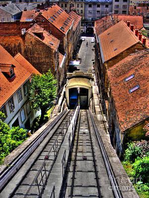 Photograph - Zagreb Funicular by Nina Ficur Feenan