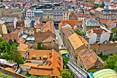 Photograph - Zagreb Historic Lower Town Architecture Rooftops by Brch Photography
