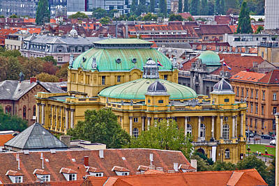 Photograph - Zagreb Rooftops And Croatian National Theater by Brch Photography
