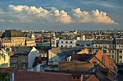 Zagreb Rooftops Art Print by Steven Richman