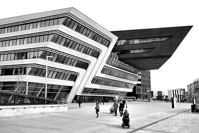 Zaha Hadid Library Center Wu Campus Vienna Art Print