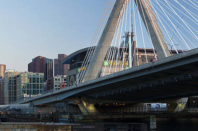 Zakim And The Garden Art Print by Eric Gendron