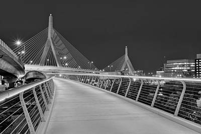Photograph - Zakim Bridge Bw by Susan Candelario