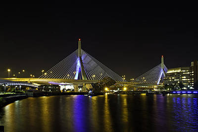 Photograph - Zakim Bridge by David Freuthal