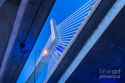 Photograph - Zakim Bridge In Blue by Susan Cole Kelly