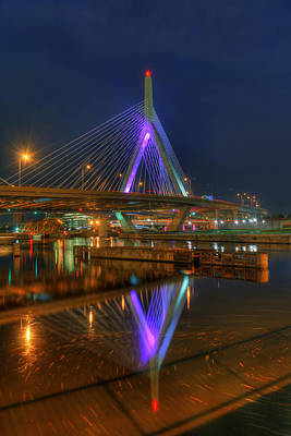 Photograph - Zakim Bridge Reflections 2 by Joann Vitali