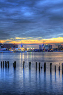 Photograph - Zakim Bridge Sunset 3 by Joann Vitali