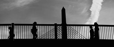 Suspension Bridge Photograph - Zakim Panoramic by Joann Vitali