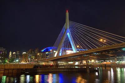 Suspension Bridge Photograph - Zakim Reflections - Boston by Joann Vitali