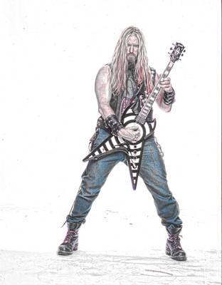 Photograph - Zakk Wylde 4 by Robert Rhoads