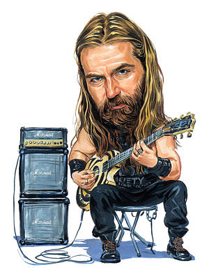 Musician Royalty-Free and Rights-Managed Images - Zakk Wylde by Art