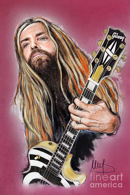 Dragon Mixed Media - Zakk Wylde by Melanie D