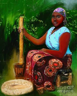 Mixed Media - Zambia Woman by Vannetta Ferguson