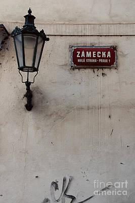 Gas Lamp Photograph - Zamecka Mala Strana by Ivy Ho
