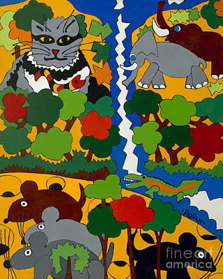 Zane Grey In Africa Art Print by Rojax Art