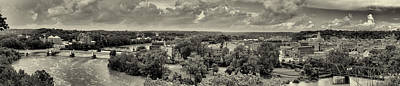 Photograph - Zanesville Panorama Black And White by Joshua House