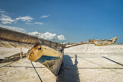 Tide Photograph - Zanzibar Outrigger by Adam Romanowicz