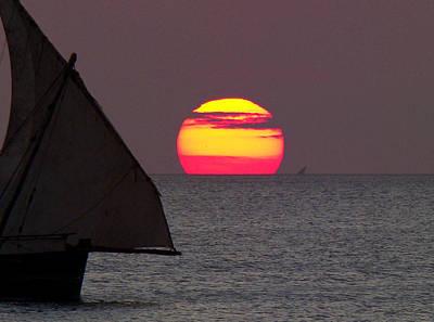 Zanzibar Sunset Art Print by Giorgio Darrigo
