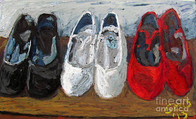 Dance Painting - Zapatos De Flamenco by Greg Mason Burns