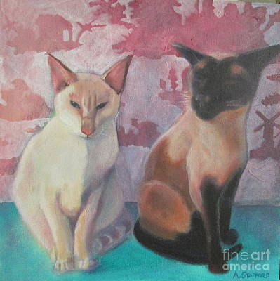 Wall Art - Painting - Zara And Fluffy by Alison Stafford