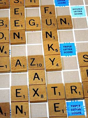 Photograph - Zax . My Favorite Scrabble Word by Renee Trenholm
