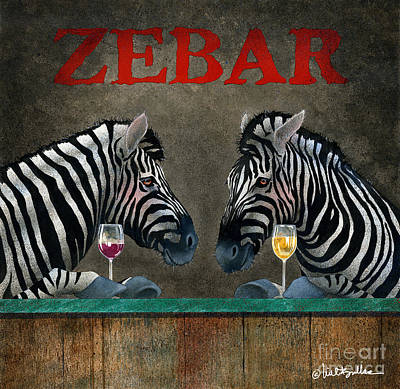 Drinks Painting - Zebar... by Will Bullas